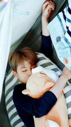 Jimin is a very well behaved baby or so he thinks . Bts Jimin, Bts Bangtan Boy, Bts Boys, Park Ji Min, Taehyung, Foto Bts, Bts Photo, Jikook, Bts Sleeping
