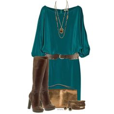 """""""Teal & Brown"""" by stylesbyjoey on Polyvore"""