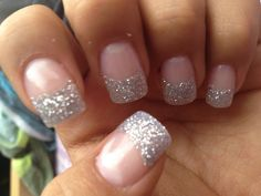 My sparkly prom nails!! :D