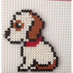 Puppy Dog Hama Beads By Hbtvegan - Diy Crafts Perler Bead Designs, Hama Beads Design, Diy Perler Beads, Perler Bead Art, Melty Bead Patterns, Pearler Bead Patterns, Perler Patterns, Beading Patterns, Art Perle