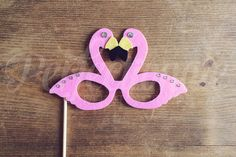 Pink Flamingo Glasses Prop  Beach Photo Booth by Perfectionate