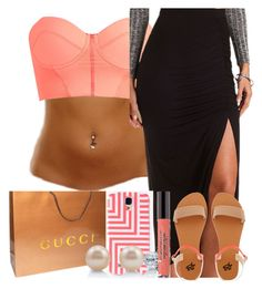 I'M INLOVE....... by neshalove223 on Polyvore featuring Charlotte Russe, 2b bebe, BERRICLE, Maaji, Gucci and Kate Spade Saturday