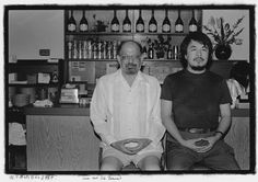 Ai Wei Wei and Alan Ginsberg : Lower East Side Restaurant. 1988 Foto: Ai Weiwei; Courtesy of Three Shadows Photography Art Center
