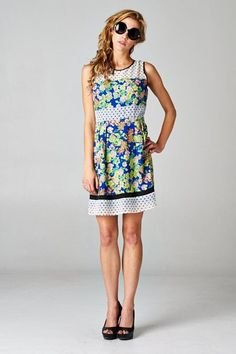 Petal to the Metal Polka Dot Dress Floral Sundress, Dress Making, Vintage Dresses, Polka Dots, Summer Dresses, Yellow, Cute, Pink, Shopping