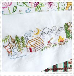 Mountain Cabin.  Sublime Stitching - New Embroidery Patterns SUBLIME BORDERS
