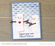 Winter Waves Background, Hug In a Mug, Stitched Mountain Range Die-namics, Toasted Marshmallows Die-namics - Kimberly Crawford   #mftstamps