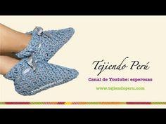 M Cómo tejer unas zapatillas / pantuflas de invierno con telar (Tutorial DIY) - YouTube