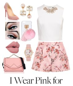 """""""I Wear Pink for ..."""" by neice-09 on Polyvore featuring Ashlyn'd, Ted Baker, Christian Louboutin, Karl Lagerfeld, STELLA McCARTNEY, Vita Fede and IWearPinkFor"""