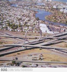 A freeway Hot Wheels Loop. Now this would make the drive to work a lot more fun!