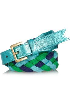 Meredith Wendell  Yaya braided cotton and leather belt