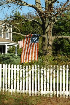 picket fence & old glory...