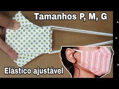 Mascará de Proteção 3d tecido com molde fácil! Easy Face Masks, Diy Face Mask, Bat Mask, Easy Youtube, 3d Face, Sewing Techniques, Sewing Patterns Free, Mask For Kids, Sewing Projects