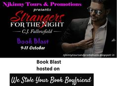 "#BookBlast + #Giveaway #StrangersForTheNight by @CJFallowfield on @westoleyourbbf http://westoleyourbookboyfriend.weebly.com/spotlights-and-cover-reveals/strangers-for-the-night-by-cj-fallowfield Also Enter the #Giveaway to win $10 Amazon GC, 1 Ebk of ""The Austin Series #1""  #EroticRomance #AdultRomance #BlogTour"