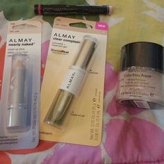 Light/Pale Skin Makeup Set All brand new in packaging. Almay Nearly Naked Cover Stick in Light, Almay Clear Complexion Concealer & Treatment Gel in Light/Medium,  Revlon ColorStay Aqua Mineral Makeup in Fair, Avon Ideal Flawless CC (Color Corrector) Pencil in Light Makeup