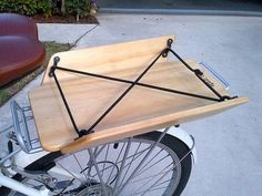 Cargo Cradle WB: Bike / Bicycle Wood / Wooden Crate / Basket / Cargo Accessory for Rear Racks - so cute!!!: