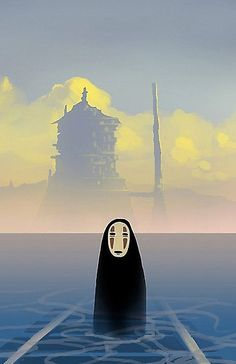 Spirited Away - Hayao Miyazaki. Studio Ghibli movies and art. Art Studio Ghibli, Studio Ghibli Movies, Hayao Miyazaki, Film Anime, Anime Art, Anime Disney, Chihiro Y Haku, Japon Illustration, Howls Moving Castle
