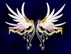Wings Sketch, Wings Drawing, Anime Weapons, Fantasy Weapons, Magic Wings, Armas Ninja, Wings Design, Beautiful Fantasy Art, Fantasy Jewelry