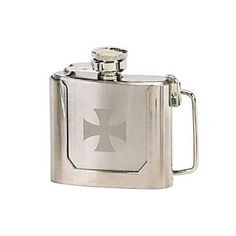 Mustang 13640 Belt Buckle Flask, Chopper, Twist Off Captive Cap by Mustang. $13.06. Manufactured to the Highest Quality Available.. Great Gift Idea.. Design is stylish and innovative. Satisfaction Ensured.. Belt buckle flask with Iron Cross logo.