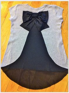Cut slit and sew lace and bow