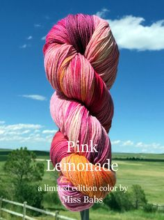 Tibetan Dream - Pink Lemonade - Bijou Basin Ranch. One of 6 limited edition colorways dyed exclusively for Bijou Basin Ranch by Miss Babs Yarn!