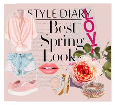 """""""Spring look"""" by tally-stew ❤ liked on Polyvore featuring H&M, Vans, Alexander Wang, Shinola, Fiebiger and Aéropostale"""