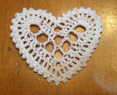 Instant Download Crochet Heart Pattern PDF File от NormasTreasures
