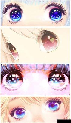 Cute kawaii manga anime eyes I don't onw the right of the photo~ Anime Body, Manga Anime, Anime Art, Anime Pokemon, Anime Kawaii, Manga Drawing, Manga Art, Drawing Eyes, Eye Drawings