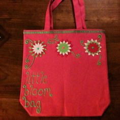 Apple Blossom Festival bag made by me...