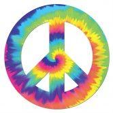 Feeling Groovy Peace Sign Cutout