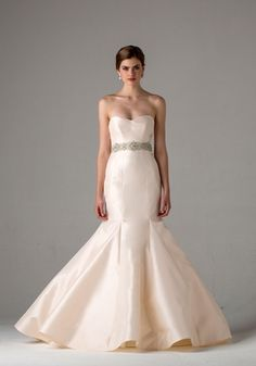 Sweetheart Fit and Flare Wedding Dress  with Natural Waist in Satin. Bridal Gown Style Number:33112244