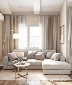Grey Walls Living Room, Small Living Rooms, Home Living Room, Interior Design Living Room, Living Room Designs, Living Room Decor, Home Room Design, Home Design Decor, Home Curtains