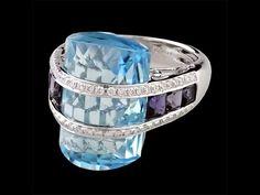 Bellarri Blue Topaz Ring   www.goldcasters.com