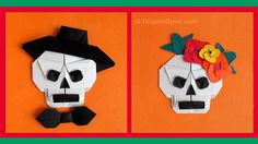 Origami tutorial and video instruction on how to make an Origami Skull for the Day of the Dead and/or Halloween. SUBTÍTULOS EN ESPAÑOL Designer: Leyla Torres...