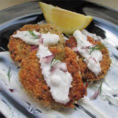 Falafels with Yogurt-Dill Sauce - Allrecipes.com