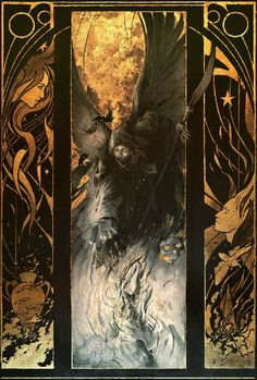 [Mysterious Gold leaf paintings by Yoann Lossel]