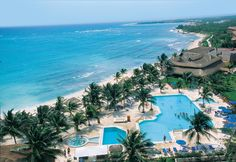 Aerial view of the Akumal Beach Resort looking south.-LOVE this place