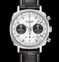 Longines Heritage 1973 Chronograph - Silver Dial #luxurywatch #Longines-swiss Longines Swiss Watchmakers watches #horlogerie @calibrelondon