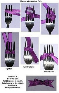Small bows using fork