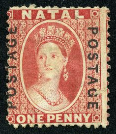 """1870 Scott 38 red """"Queen Victoria"""" Overprinted in Black Quick History Natal was a British crown colony in south-eastern Africa bet. Cape Colony, Crown Colony, Santa Lucia, Colonial, Union Of South Africa, New Africa, Kwazulu Natal, Red Queen, New Zealand"""