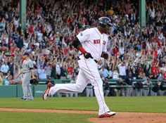 BOSTON, MA - APRIL 14 David Ortiz #34 of the Boston Red Sox rounds the bases after hitting a two-run home run in the fifth against Tampa Bay Rays at Fenway Park April 14, 2012 in Boston, Massachusetts. (Photo by Jim Rogash/Getty Images)