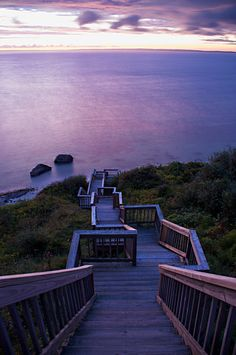 Sunset Stairs, Martha's Vineyard in Massachusetts