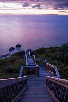 Sunset Stairs, Martha's Vineyard, Massachusetts