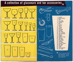 glassware and bar accessories