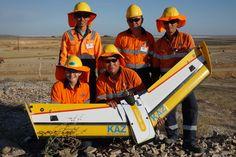 Kaz Minerals Staff with their Q-200 Surveyor Pro #drone at their mine