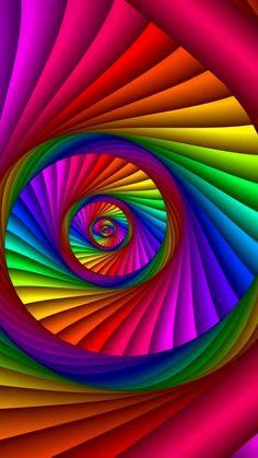 Rainbow Swirl Source by alfrla Rainbow Wallpaper, Galaxy Wallpaper, Colorful Wallpaper, Wallpaper Backgrounds, Rainbow Swirl, Rainbow Art, Rainbow Colors, Rainbow Pastel, Bright Colors