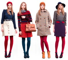 Sessun Fall 2011. How to wear colorful tights.
