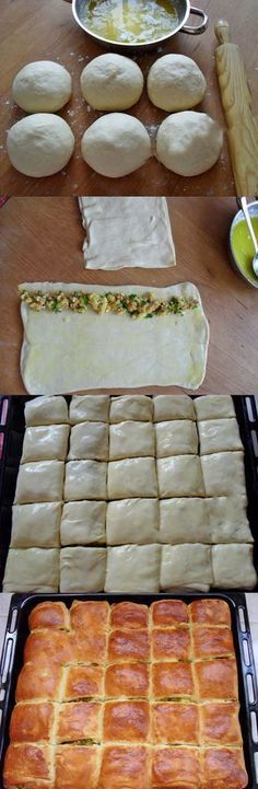 Puff Pastry Making - Gast - Pastry Recipes, Meat Recipes, Snack Recipes, Cooking Recipes, Snacks, Greek Cooking, Cooking Time, Turkish Recipes, Food Humor