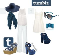 Tumblr Outfit-- haha, this is great! I can't believe how perfectly they got the blue to match