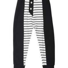 The perfect light weigh summer pants, made from super soft breathable knitted fabric and designed with a fun striped pattern with buttons. Black Side, Black And White, Summer Pants, Ss 2017, Knitted Fabric, Copenhagen, Kids Playing, Monochrome, Kids Fashion