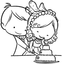Online Shop Couple wedding Transparent Clear stamp and cutting dies DIY Silicone Seals Scrapbooking / Card Making/Photo Album Decoration Wedding Coloring Pages, Colouring Pages, Coloring Books, Kids Table Wedding, Wedding With Kids, Cute Couple Drawings, Cute Drawings, Tampons Transparents, Wedding Favors